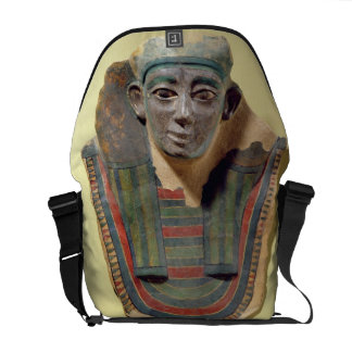 Mummy mask, from Mirgissa (stuccoed and painted pl Courier Bag