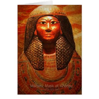 Mummy Mask of Khonsu 1279-1213 B.C Card