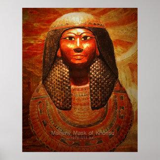 Mummy Mask of Khonsu 1279-1213 B.C Poster