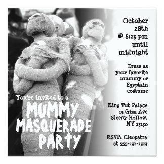 Mummy Masquerade Halloween Party Invitation