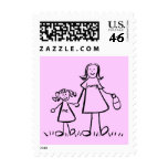 Mummy & Me - Mother and Little Girl Postage Stamps