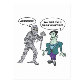 Mummy & Monster Postcard