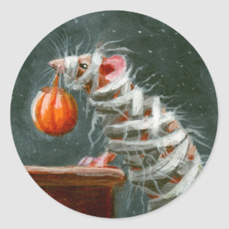 Mummy Mouse Halloween Stickers