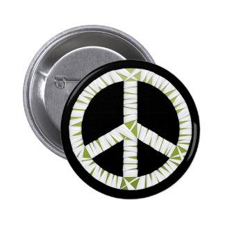 Mummy Peace Sign Round Button