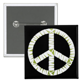 Mummy Peace Sign Square Button