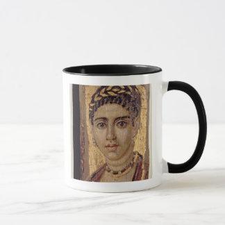 Mummy Portrait of a Woman, from Fayum, Romano-Egyp Mug