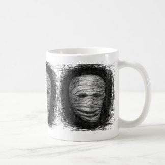 Mummy Scratch Black White Mug