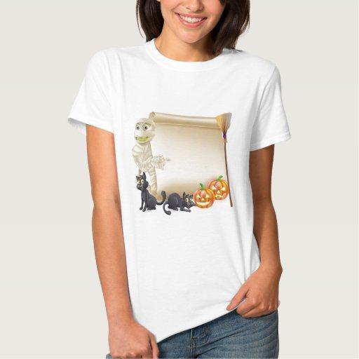 Mummy Scroll Halloween Banner T Shirt