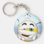 mummy smiley face key chain