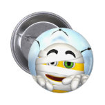 mummy smiley face pinback buttons