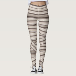 Mummy Stripes Halloween Leggings