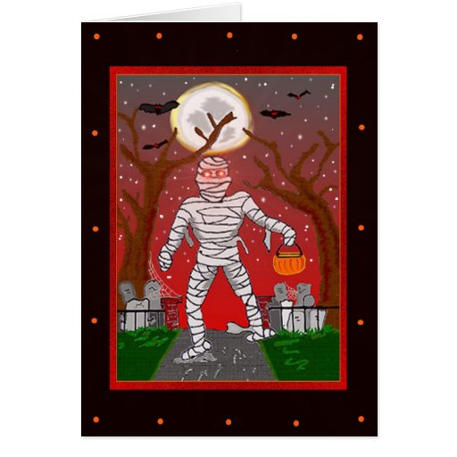 Mummy Template Halloween Card
