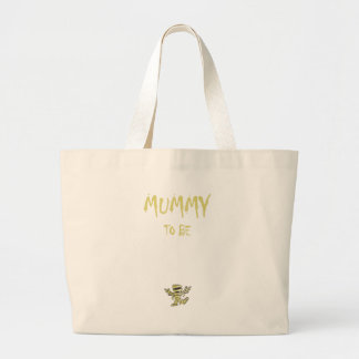 mummy to be large tote bag
