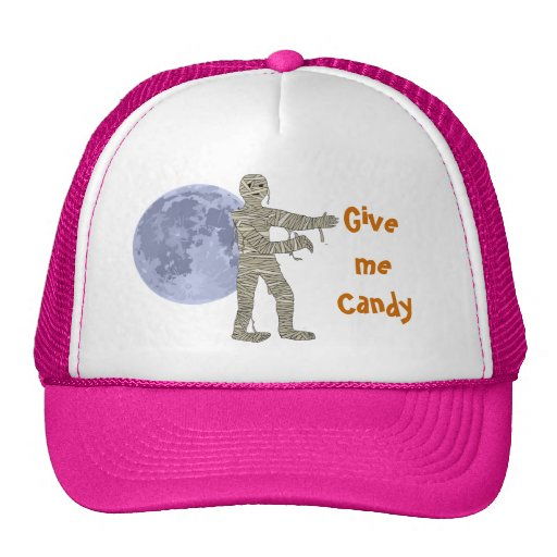 Mummy Walking in the Moonlight. Give me Candy Trucker Hat