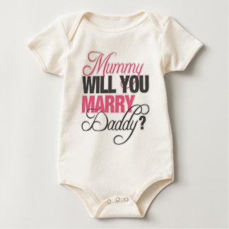 MUMMY WILL YOU MARRY DADDY? BABY BODYSUIT
