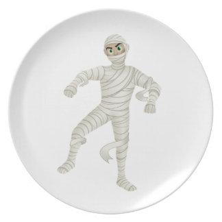 Mummy with Green Eyes Melamine Plate