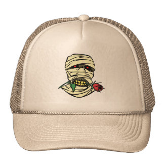 MUMMY WITH ROSE TRUCKER HAT