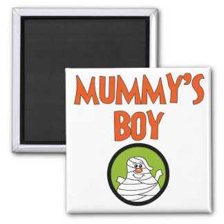 Mummy's Boy Halloween Tshirts and Gifts 2 Inch Square Magnet