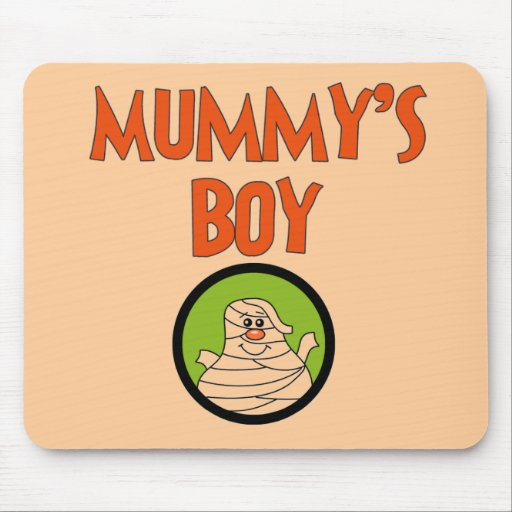 Mummy's Boy Halloween Tshirts and Gifts Mouse Pad
