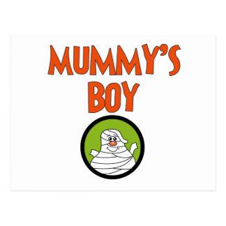 Mummy's Boy Halloween Tshirts and Gifts Postcard