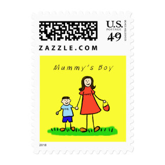 Mummy's Boy - Mother and Son Art Postage Stamps