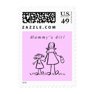 Mummy's Girl - Mother and Daughter Postage Stamps