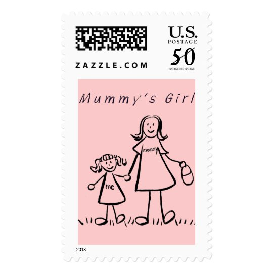 Mummy's Girl Postage Stamp