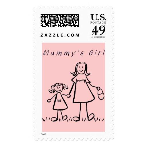 Mummy's Girl Postage Stamp