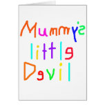 Mummy's Little Devil Greeting Card