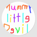 Mummy's Little Devil Stickers