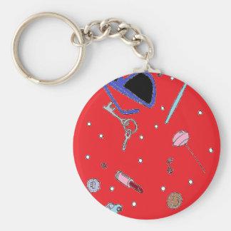 mums bag basic round button keychain