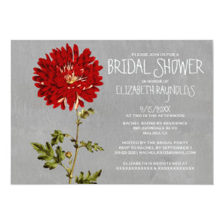 "Mums Bridal Shower Invitations 5"" X 7"" Invitation Card"