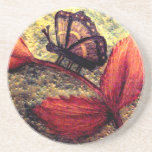 Mums Butterfly Art Home Decor_Gift Drink Coasters
