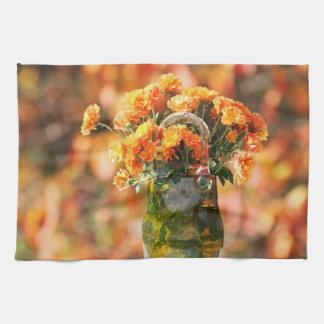 Mums in a Glass Vase Kitchen Towels