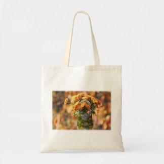 Mums in a Glass Vase Tote Bags