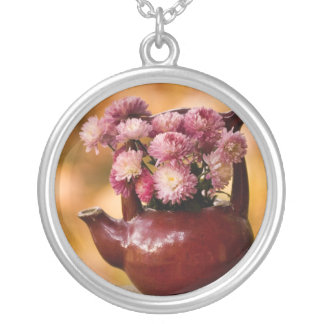 Mums in a Teapot Photo Necklace
