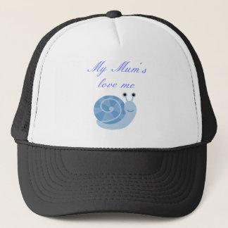 mums love me boy. clothing trucker hat