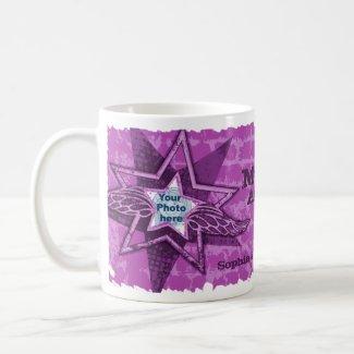 Mum's/Mom's Angels in stars purple mug mug