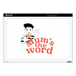 """Mums the Word Decals For 17"""" Laptops"""