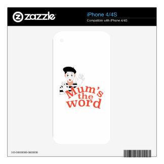 Mums the Word iPhone 4 Skin