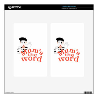 Mums the Word Kindle Fire Skins