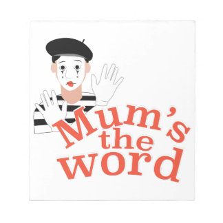 Mums the Word Notepad