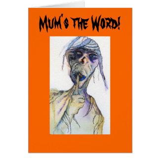 Mum's The Word Surprise Party Halloween Invitation