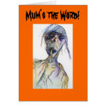Mum's The Word Surprise Party Halloween Invitation Cards