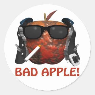 Mún Apple Pegatina Redonda