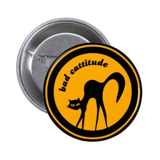 Mún botón de Cattitude Pin Redondo De 2 Pulgadas