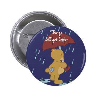 Mún botón del peluche del día pin redondo de 2 pulgadas