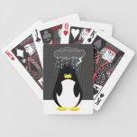 Mún botón del pingüino del día baraja