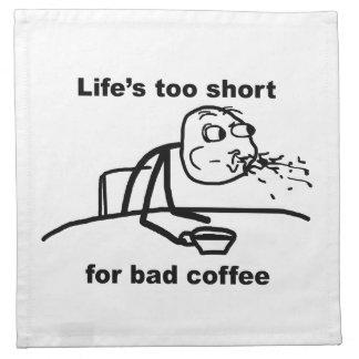 Mún café servilletas