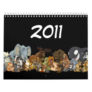 Mún calendario del jarro animal (2011)